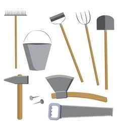 Farm tools set vector image
