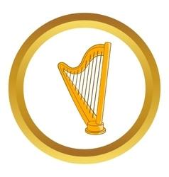 Harp icon vector