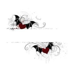 Heart vampires vector
