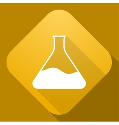 icon of Flask with a long shadow vector image vector image