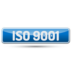 Iso 9001 - abstract beautiful button with text vector