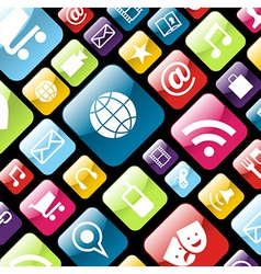 Mobile phone app icon background vector image