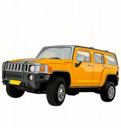off-road SUV vector image vector image