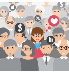 People group talking vector image vector image