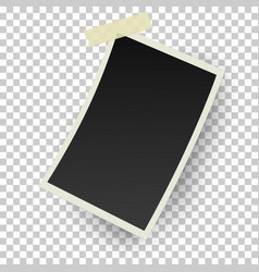 realistic retro photo frame with straight edges vector image