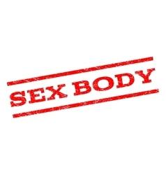 Sex body watermark stamp vector