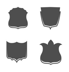 shield emblems set in graphic style vector image vector image
