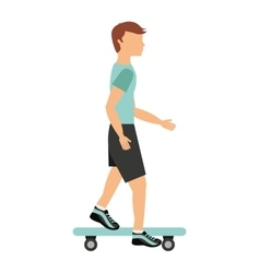 skateboard sport isolated icon design vector image vector image