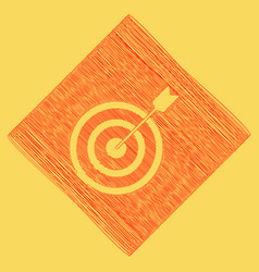 target with dart red scribble icon vector image vector image