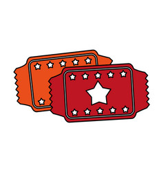 tickets icon image vector image vector image