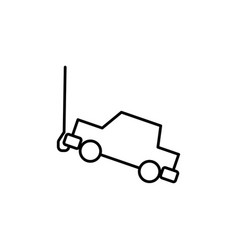 tow truck icon vector image vector image
