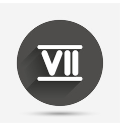 Roman numeral seven icon roman number seven sign vector