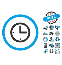 Time flat icon with bonus vector