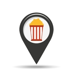 Symbol cinema icon pop corn movie design vector