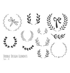 Hand drawn isolated doodle design elements vector
