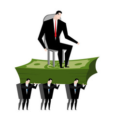 Managers carry boss workers are head office clerk vector