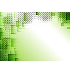 Green squared abstract background vector