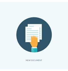 Flat paper document emailing vector
