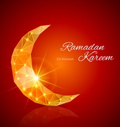 Greeting card of holy muslim month ramadan vector
