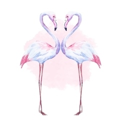 Nice watercolor flamingo vector image