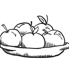 Simple black and white apples vector