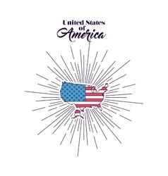 United stastes of america design vector