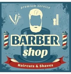 Barber shop retro style poster vector