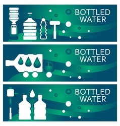 Set of banners for theme bottled water flat design vector image