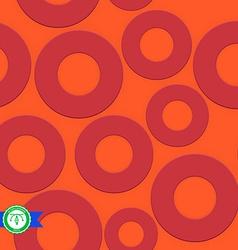 Abstract seamless circles pattern vector