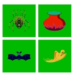 assembly flat spider potion cauldron vector image vector image