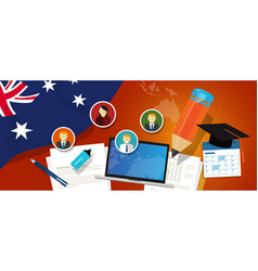 australia education school university concept with vector image vector image