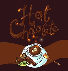 Beautiful background hot chocolate vector