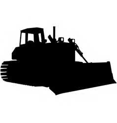 Bulldozer silhouette vector