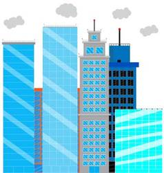 Business district with glass skyscrapers vector