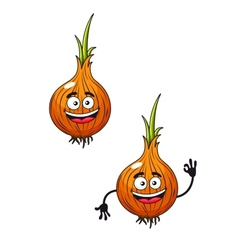 Cartoon happy smiling fresh onion vector image vector image