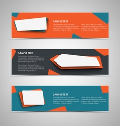 Collection banners with abstract design pointers vector image vector image