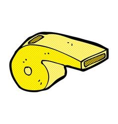 comic cartoon whistle vector image