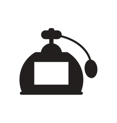 Flat icon in black and white french perfume vector
