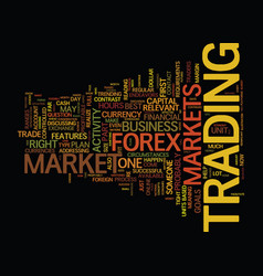 forex find out if it s the right market for you vector image