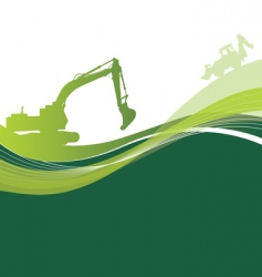 green construction vector image vector image