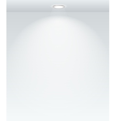 Illuminated with the spot empty wall template vector