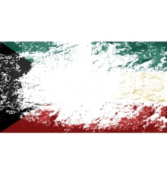 Kuwait flag Grunge background vector image vector image