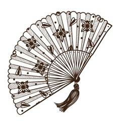 Ladys fan vector image vector image