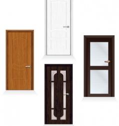 modern doors vector image vector image