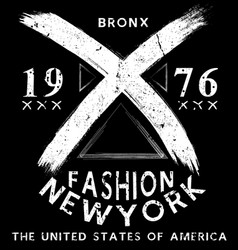 Newyork fashion tee typography graphic design vector