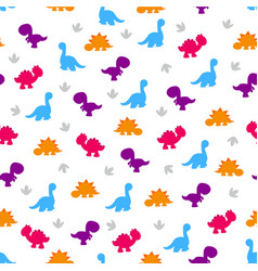 Pattern of colorful dinosaurs vector