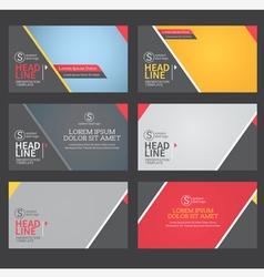 presentation template flat design vector image