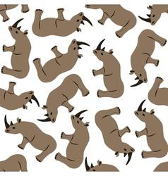 seamless rhino pattern vector image vector image
