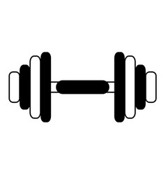 Single dumbbell weight icon image vector