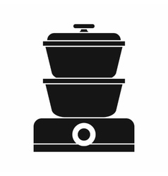 Steamer icon simple style vector